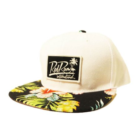 south-beach white-floral-snapback