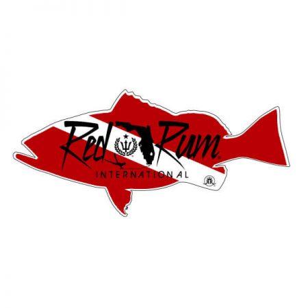 grouper dive flag sticker